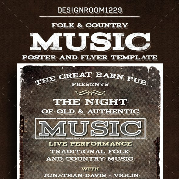 Country Folk Flyer/Poster Template