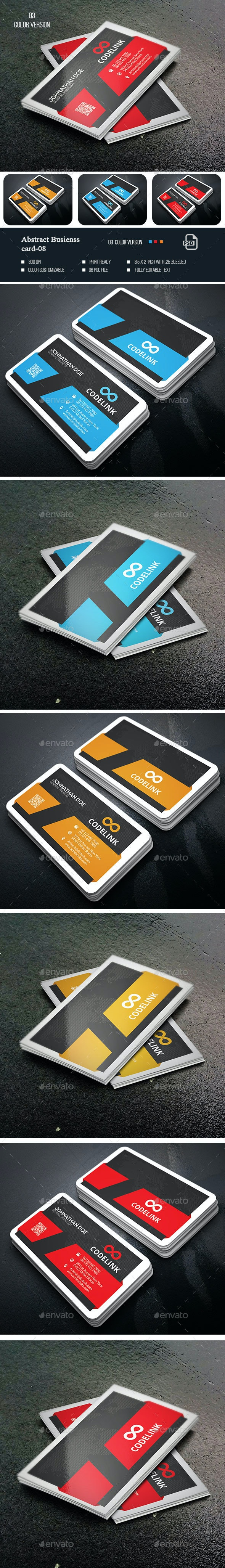 Abstract Business Card-08 - Business Cards Print Templates