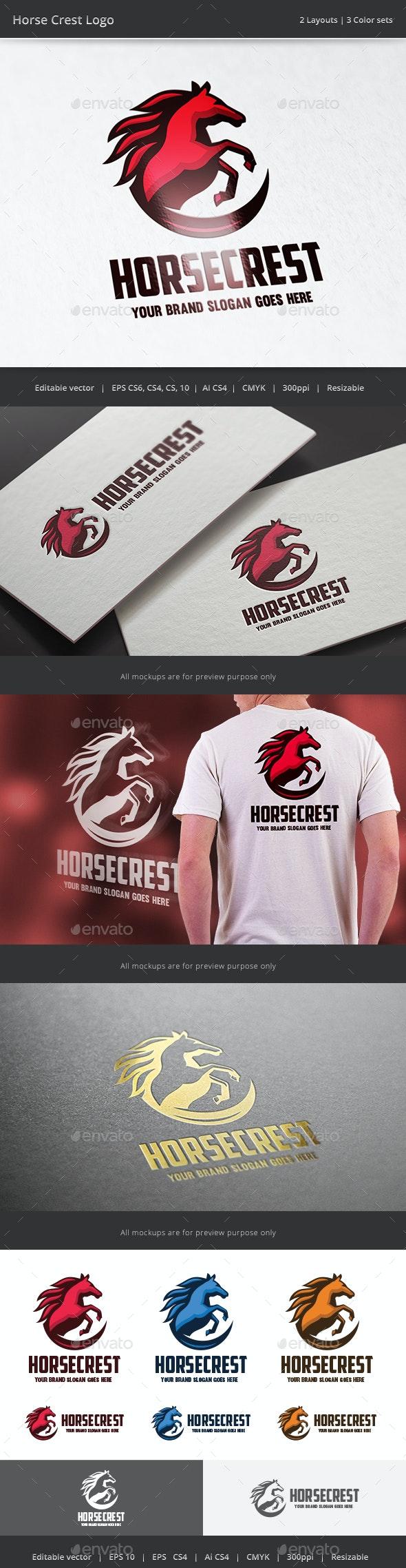 Horse Crest v2 Logo - Animals Logo Templates