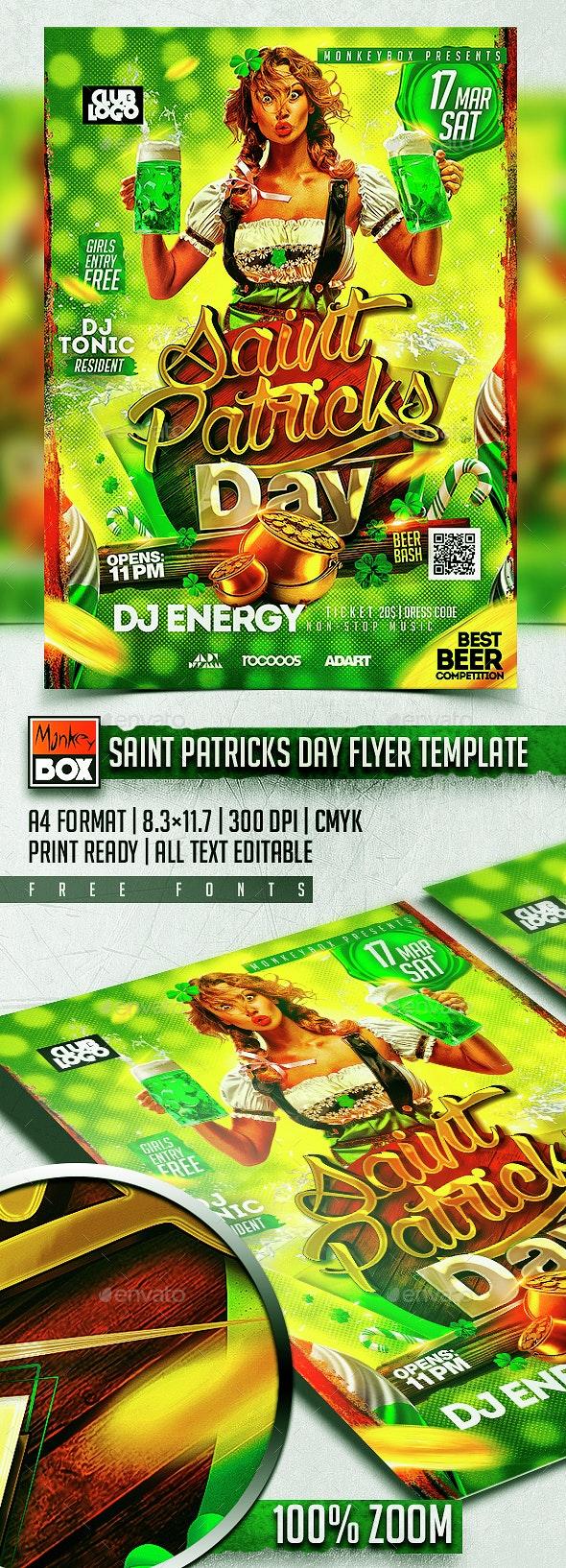 Saint Patricks Day Flyer Template - Holidays Events