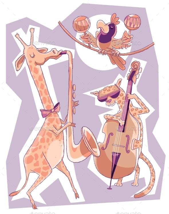 African Free Jazz - Animals Characters