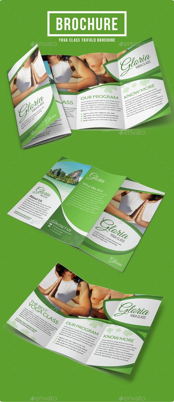 Yoga Class Brochure Template - Informational Brochures