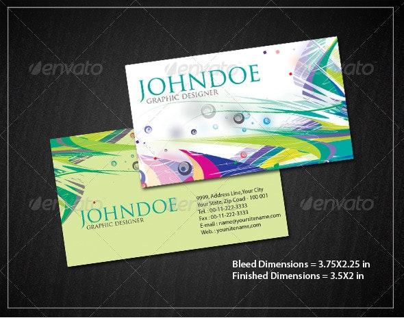 Abstract Business Card Set - Creative Business Cards