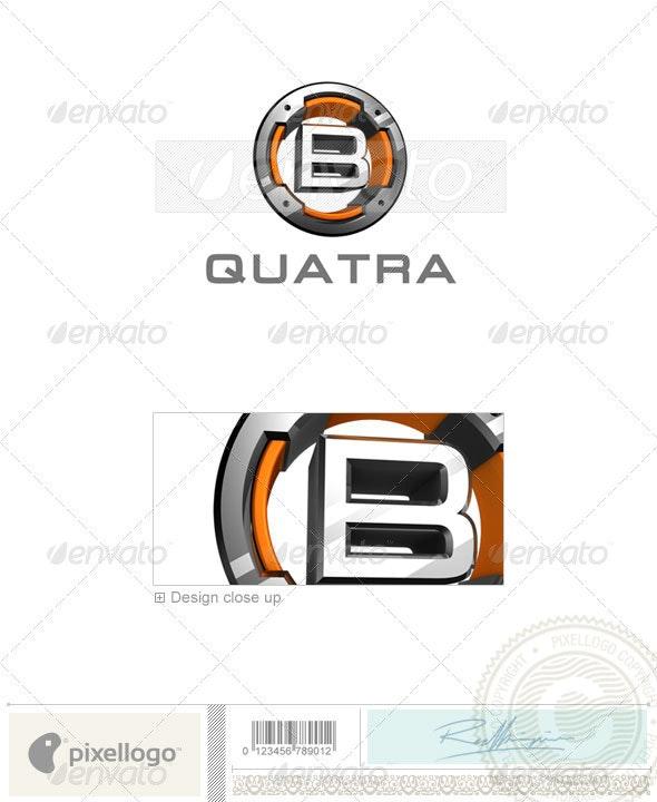 B Logo - 3D-494-B - Letters Logo Templates