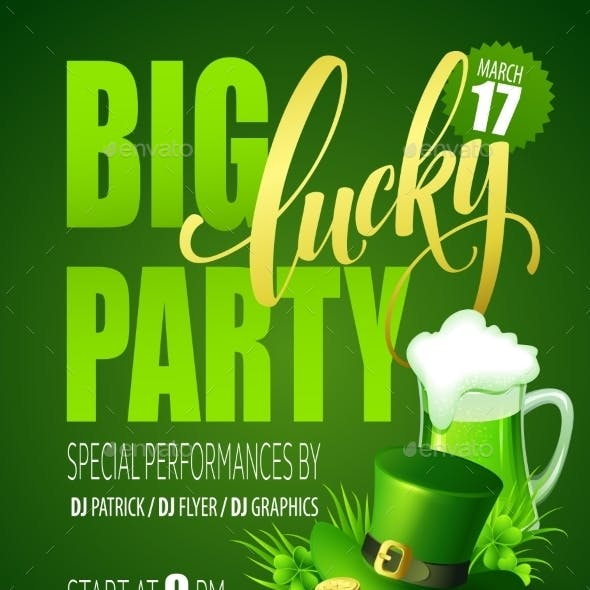 Lucky Party Poster St. Patricks Day