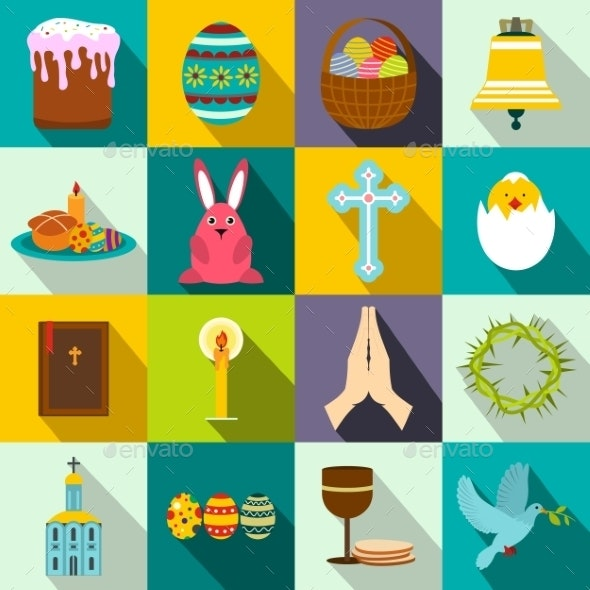 Easter Flat Icons - Miscellaneous Icons
