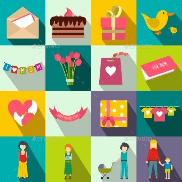 Mother Day Flat Icons