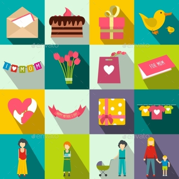 Mother Day Flat Icons - Miscellaneous Icons