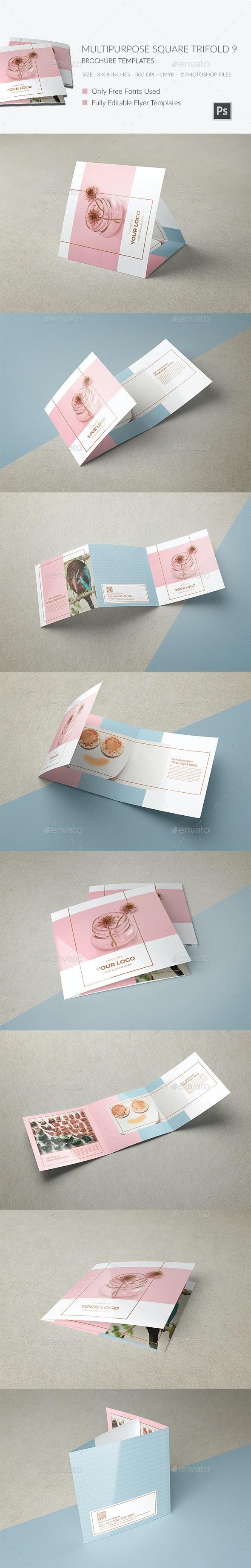 Multipurpose Square Trifold Brochure - Brochures Print Templates