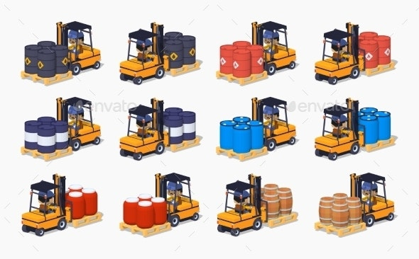 Barrels on the Forklifts - Industries Business