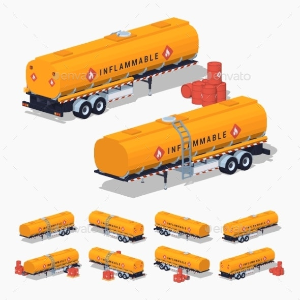 Orange Fuel Tank - Industries Business