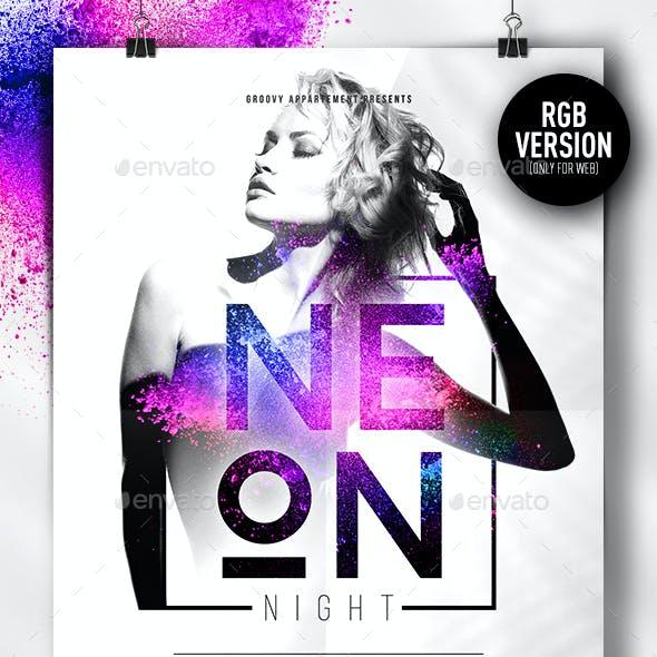 Neon Night V2 Flyer