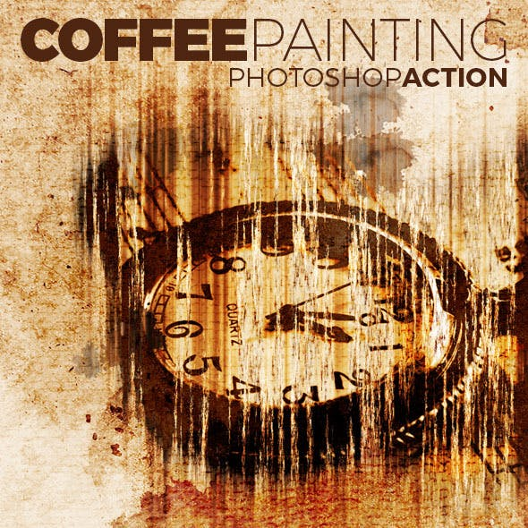 Coffee Painting Action