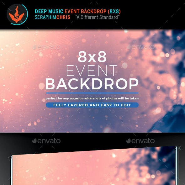 Deep Music Event Backdrop Template