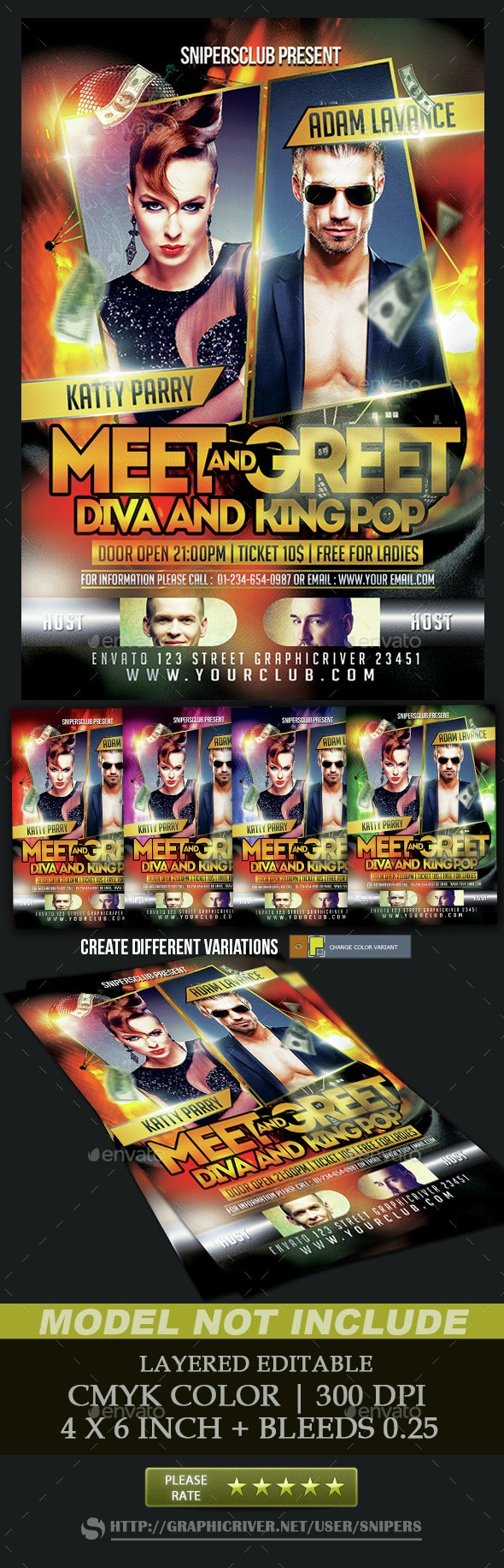 Meet and Greet Artist - Events Flyers