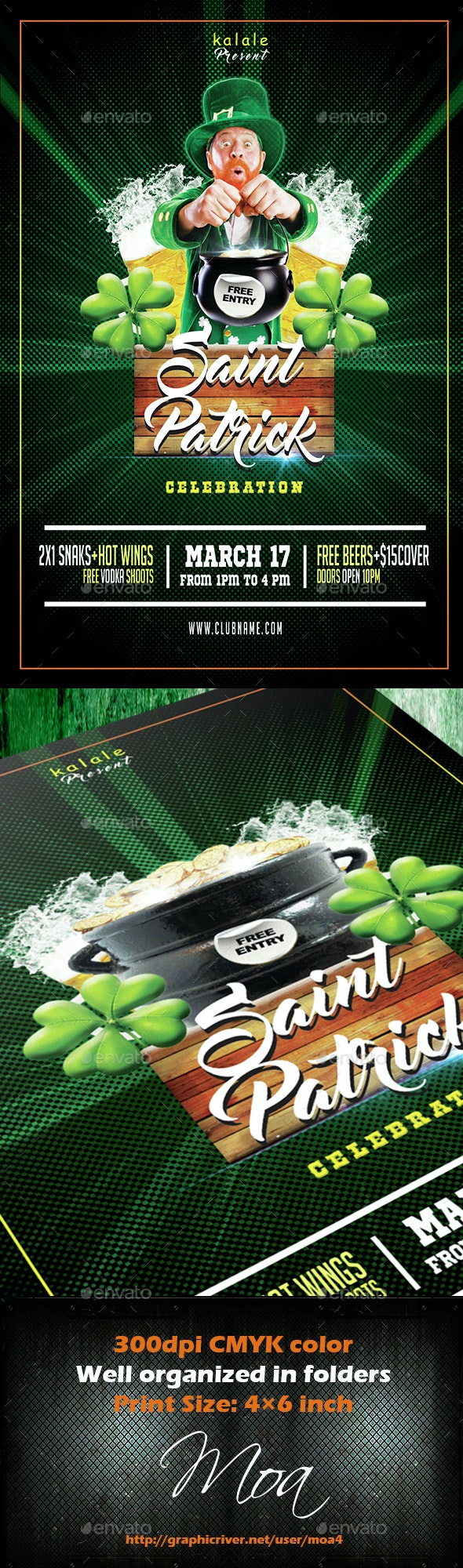 Saint Patrick Party - Events Flyers
