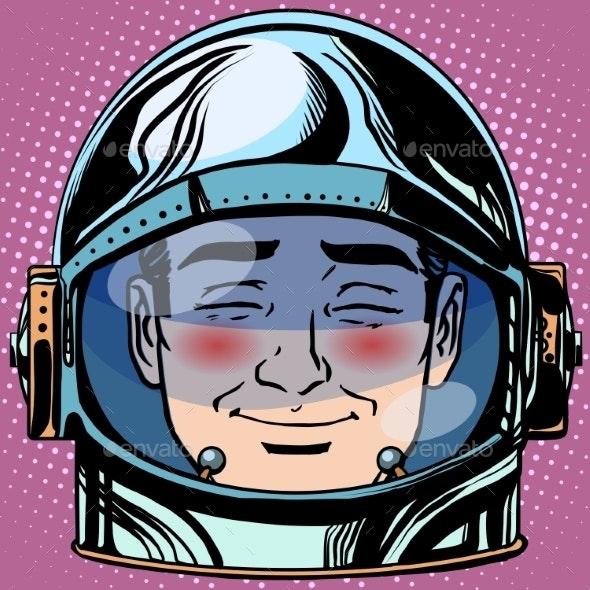 Embarrassment Emoji Face Man Astronaut - People Characters
