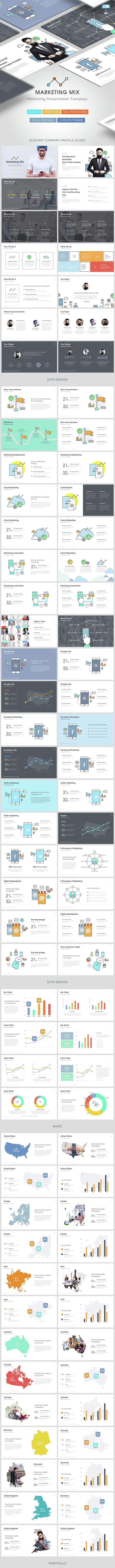 Social Media Mix - Creative Powerpoint Template - PowerPoint Templates Presentation Templates