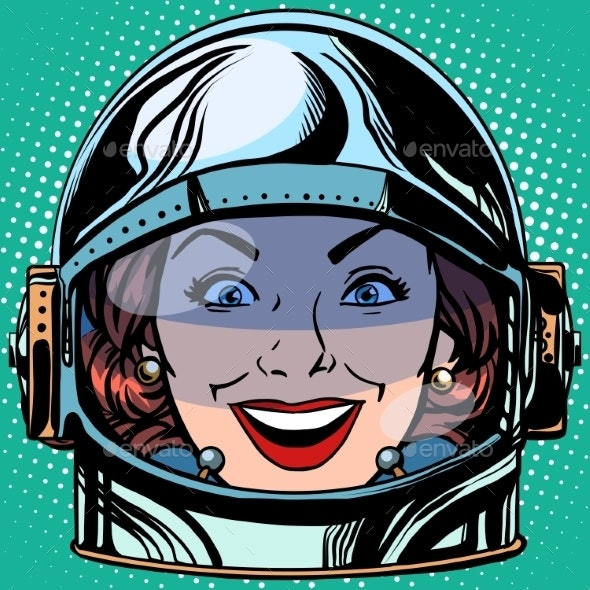 Joy Smile Emoji Face Woman Astronaut - People Characters