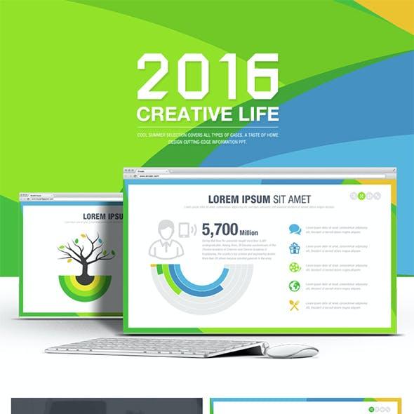 Creative Life Powerpoint Templates