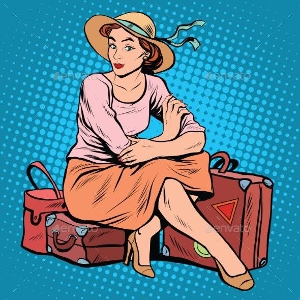 Lady Tourist Traveler - Travel Conceptual
