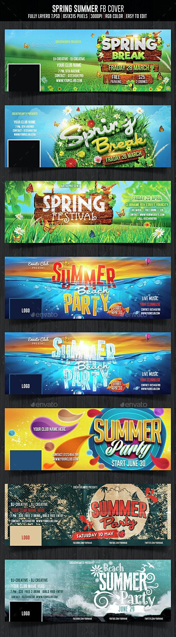 Spring Summer Facebook Cover - Facebook Timeline Covers Social Media