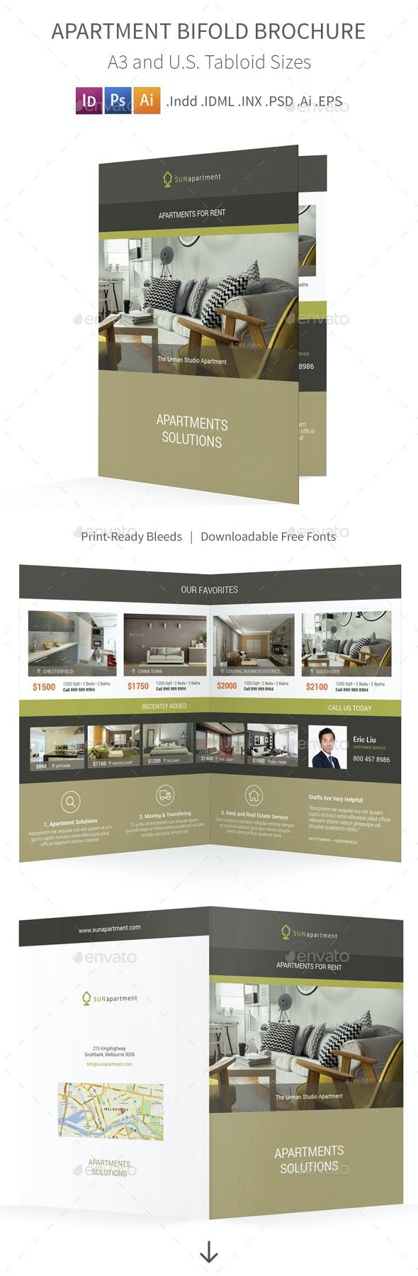 Apartment For Rent Bifold / Halffold Brochure 2 - Informational Brochures