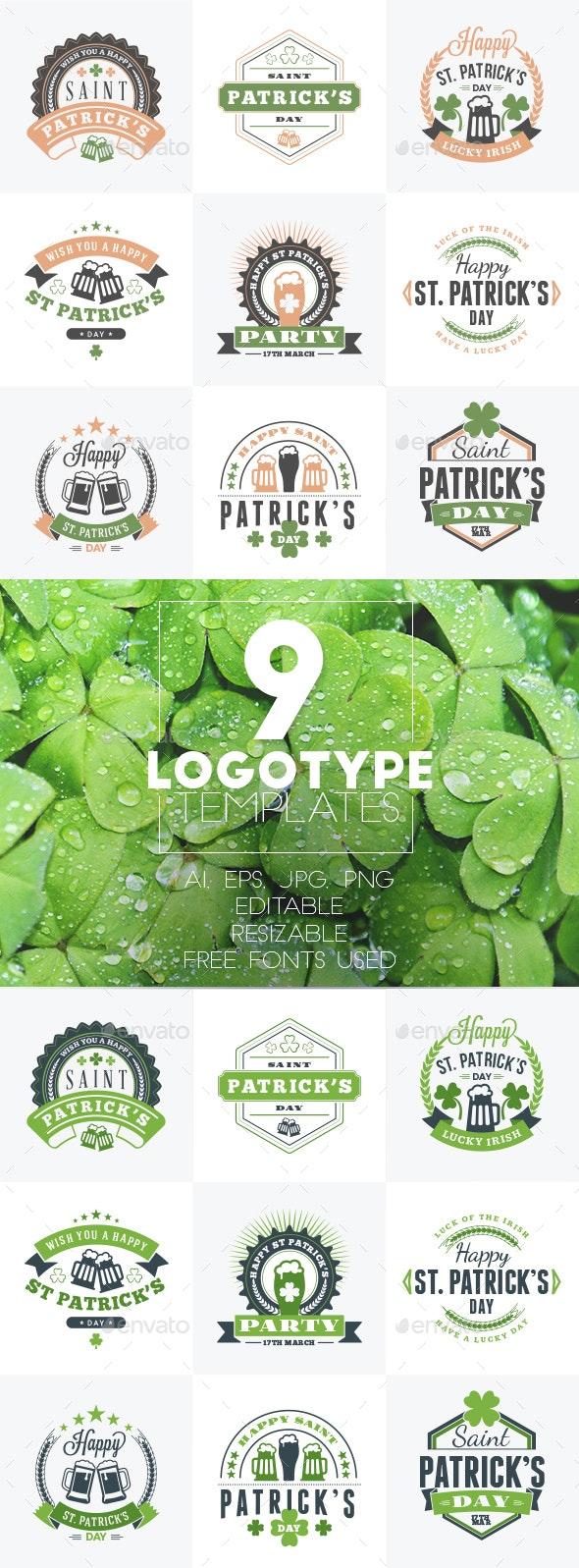 Set of St. Patrick's Day Badges - Badges & Stickers Web Elements