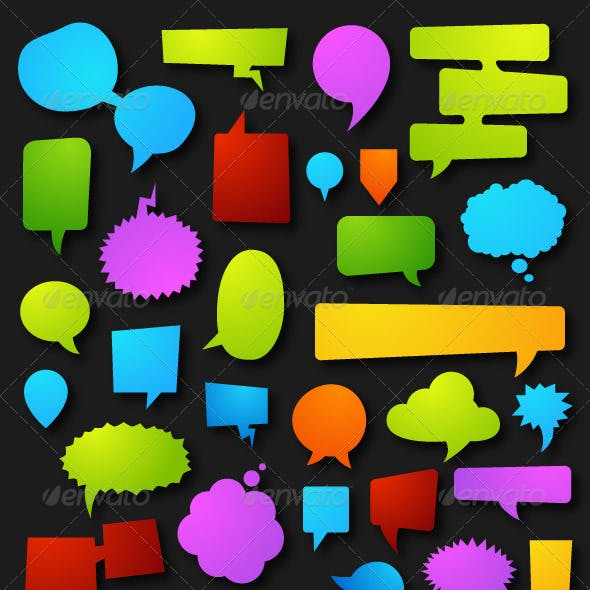 43 Colorfull Speech Bubbles