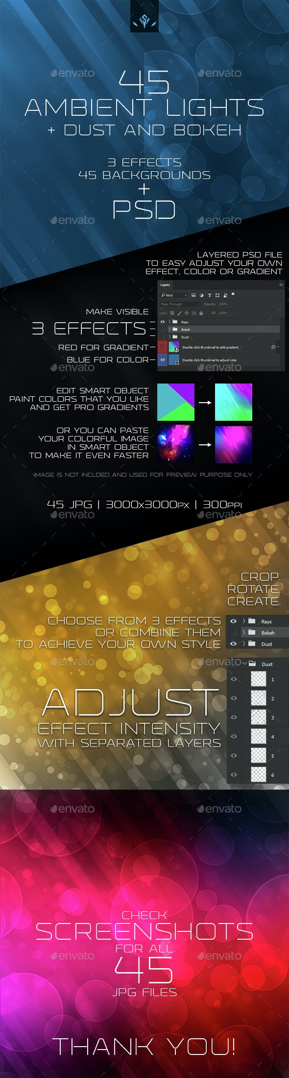 Ambient Lights Dust and Bokeh Background - Abstract Backgrounds