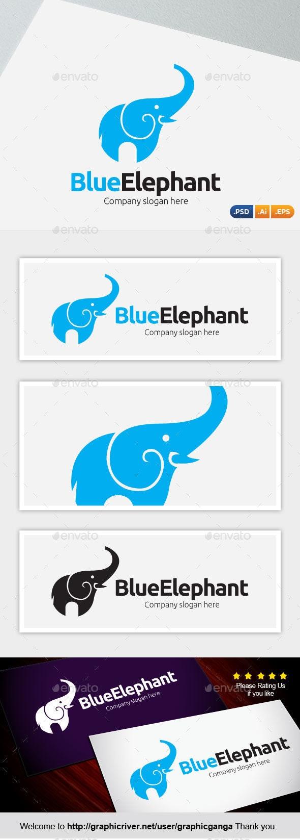 Blue Elephant - Abstract Logo Templates