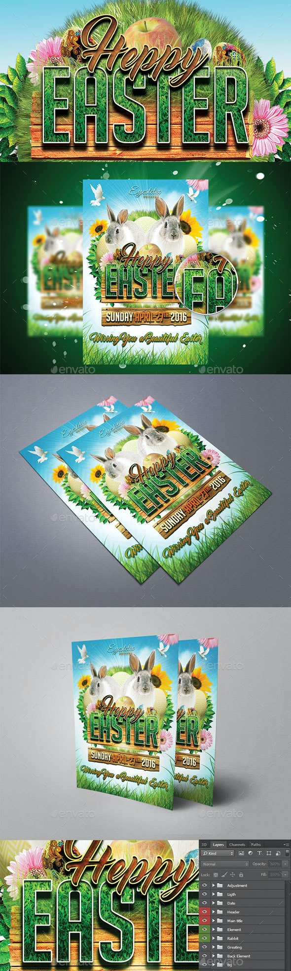 Happy Easter - Holiday Greeting Cards