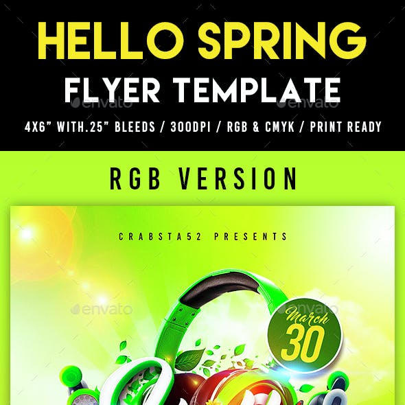 Hello Spring Flyer Template