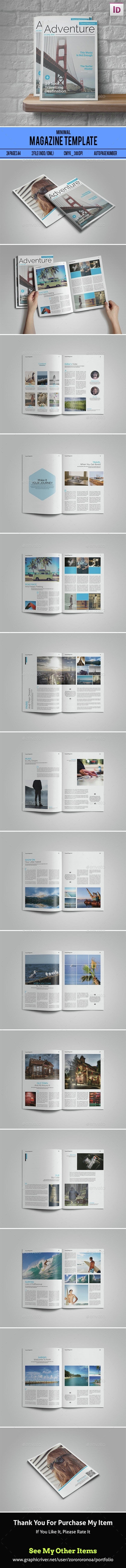 Clean & Simple Magazine - Magazines Print Templates