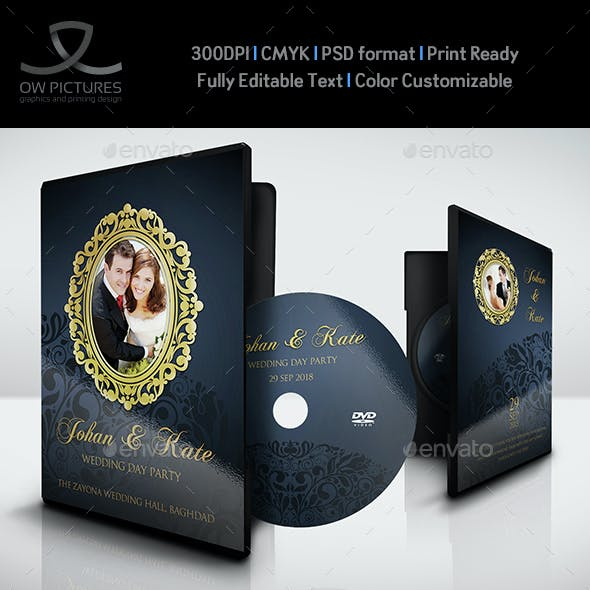Wedding DVD Cover and DVD Label Template Vol.7
