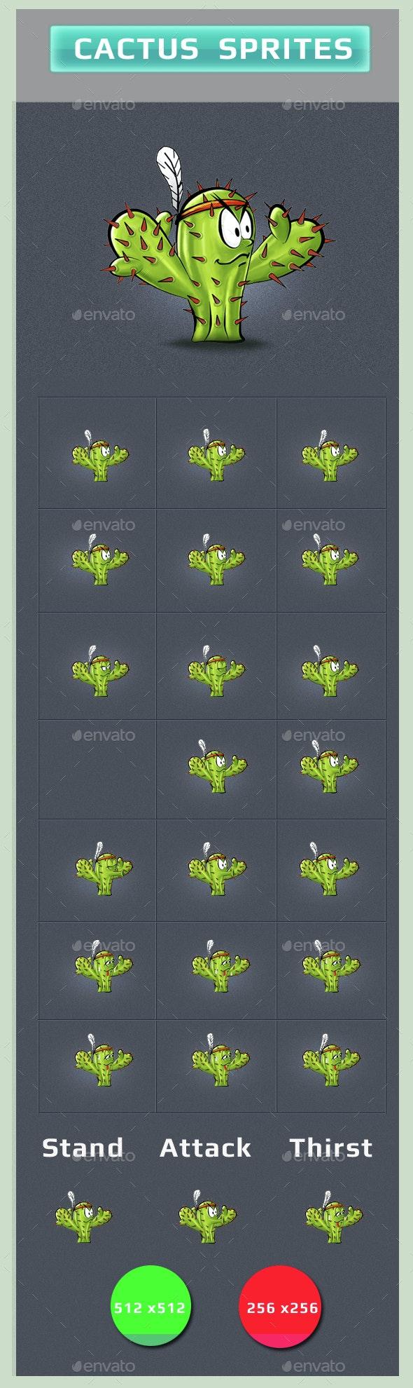 Cactus Sprites - Sprites Game Assets
