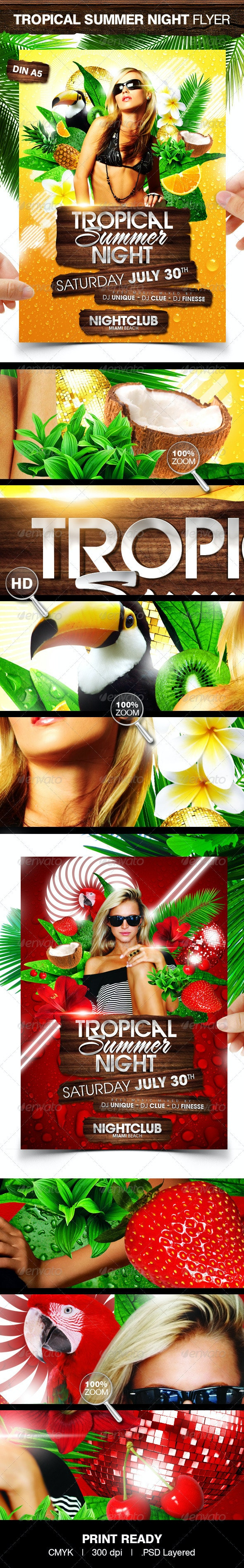 Tropical Summer Night - Clubs & Parties Events