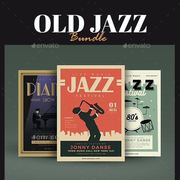 Old Jazz Festival Flyer Bundle