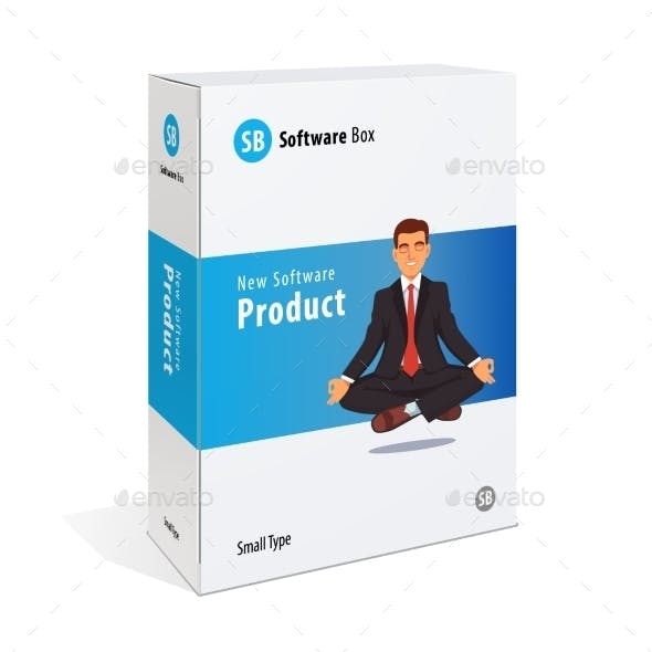 White Cardboard Software Box
