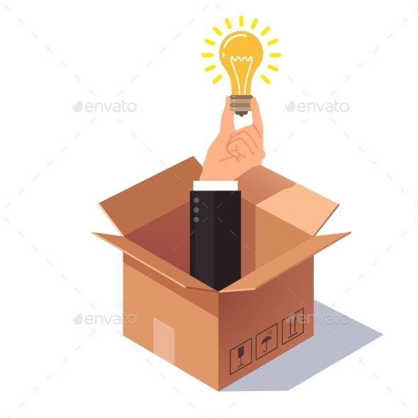 Thinking Out of the Box Concept - Concepts Business