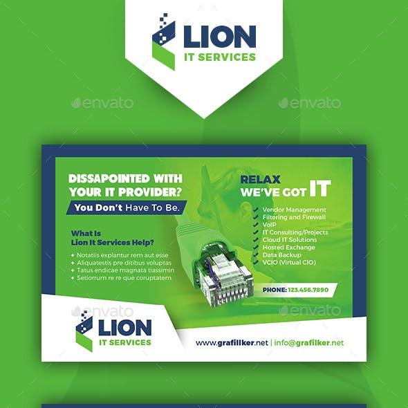 IT Service Postcard Templates