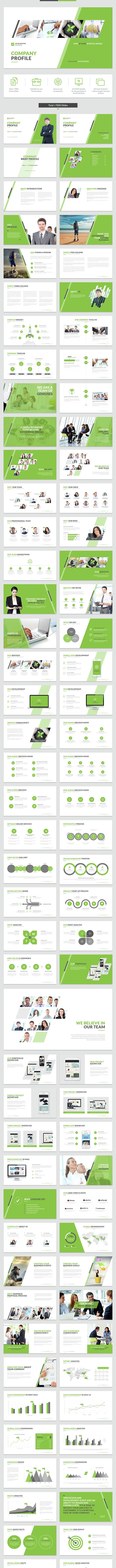Company Profile PowerPoint Template - Business PowerPoint Templates