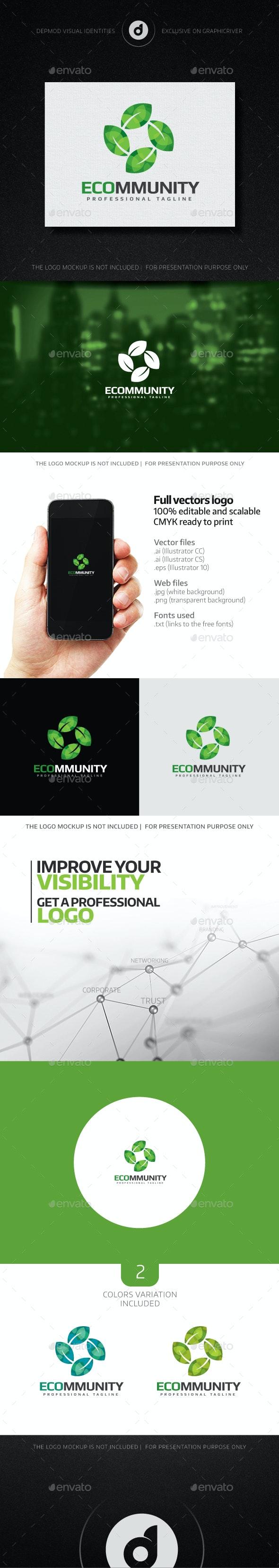 ECOmmunity Logo - Nature Logo Templates