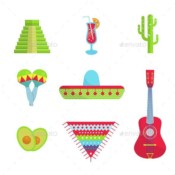 Bright Mexican Flat Set - Travel Conceptual