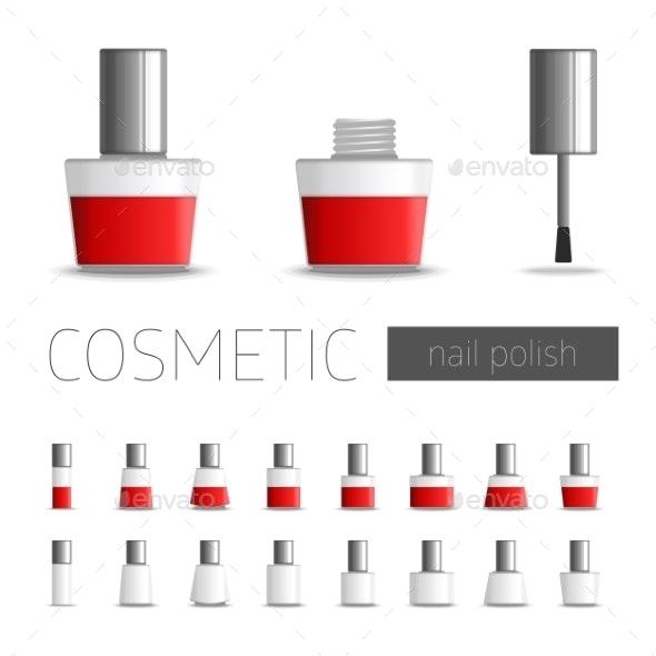 Cosmetic Nail Polish - Backgrounds Decorative