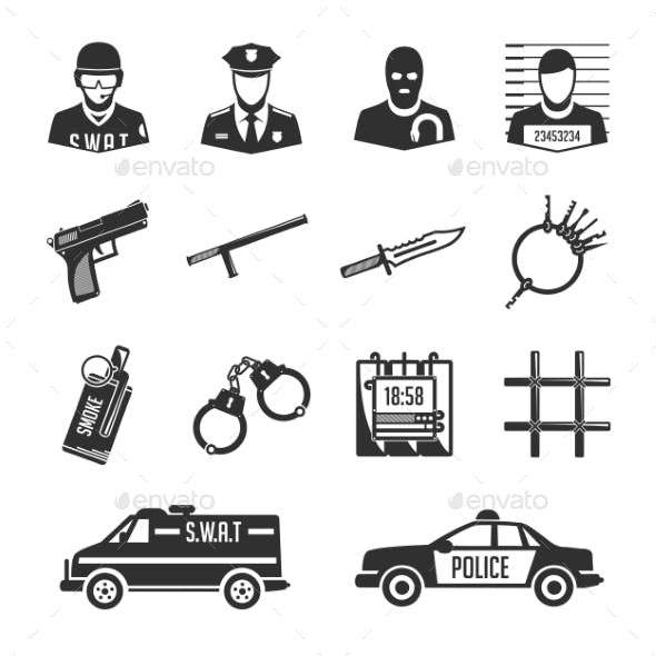Police and Thieves Icons