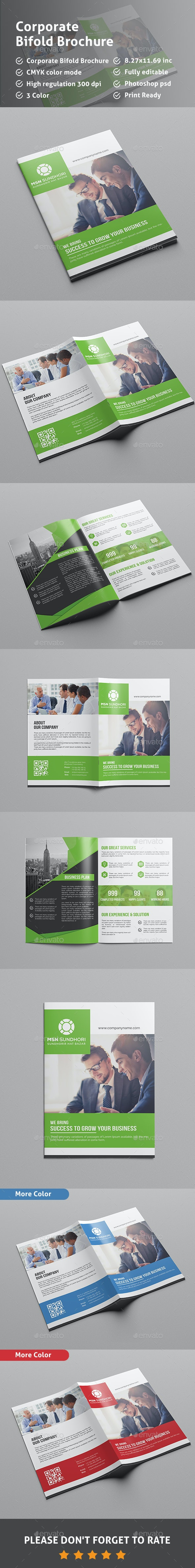 Bi Fold Brochure Template - Corporate Brochures