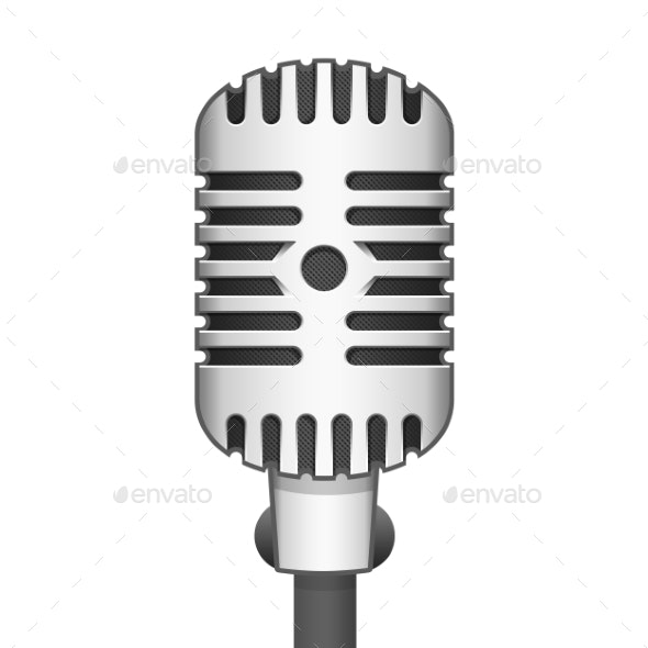 Realistic Microphone - Man-made Objects Objects