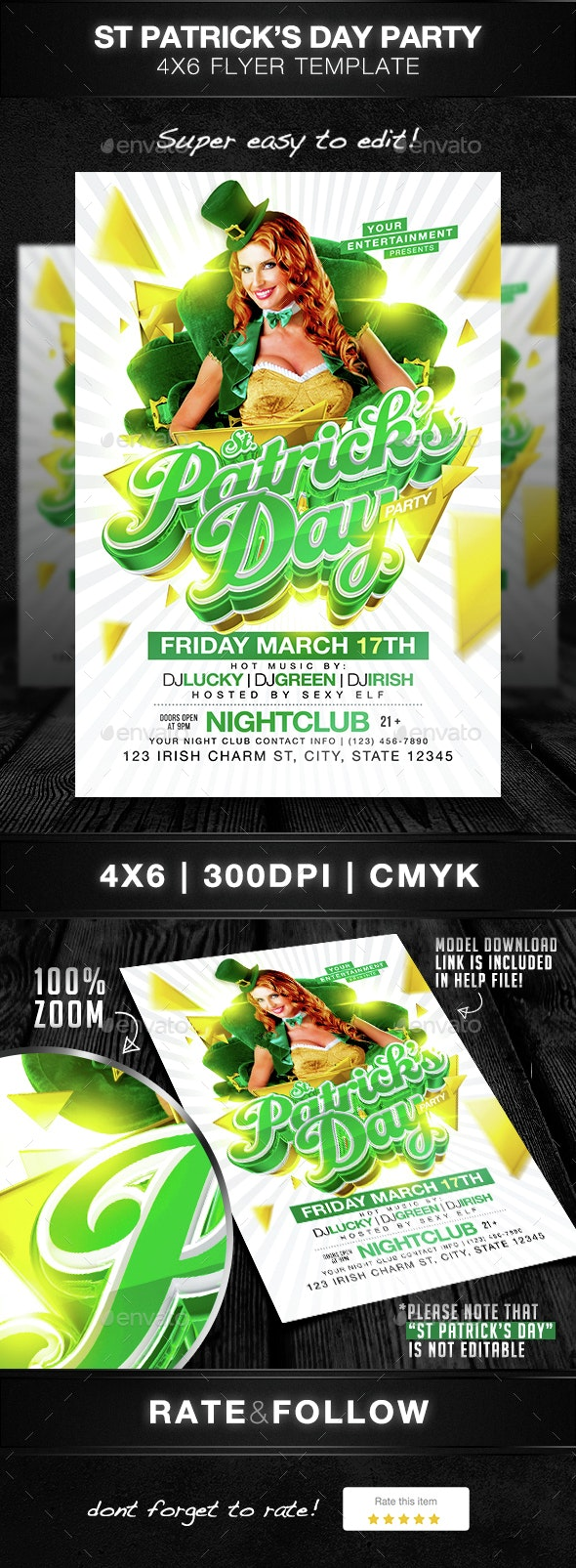 St Patricks Day Party Flyer Template - Holidays Events