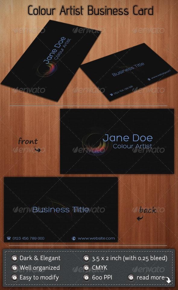 Colour Artist - Creative Business Cards